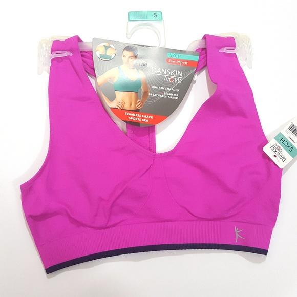 acc7a5c231930 Seamless T Back Sports Bra S Low Impact Pink